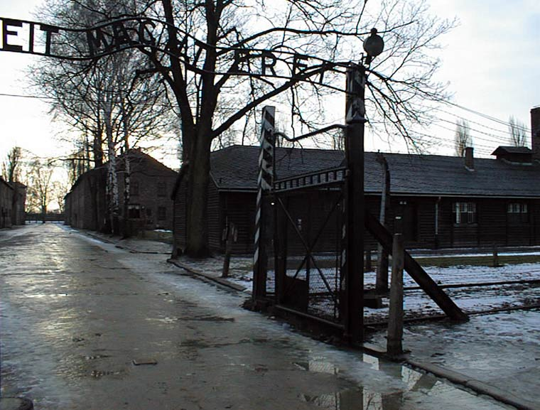 auschwitz-i-the-gate-with-the-inscription-arbeit-macht-freiphotograph-by-ryszard-domasik