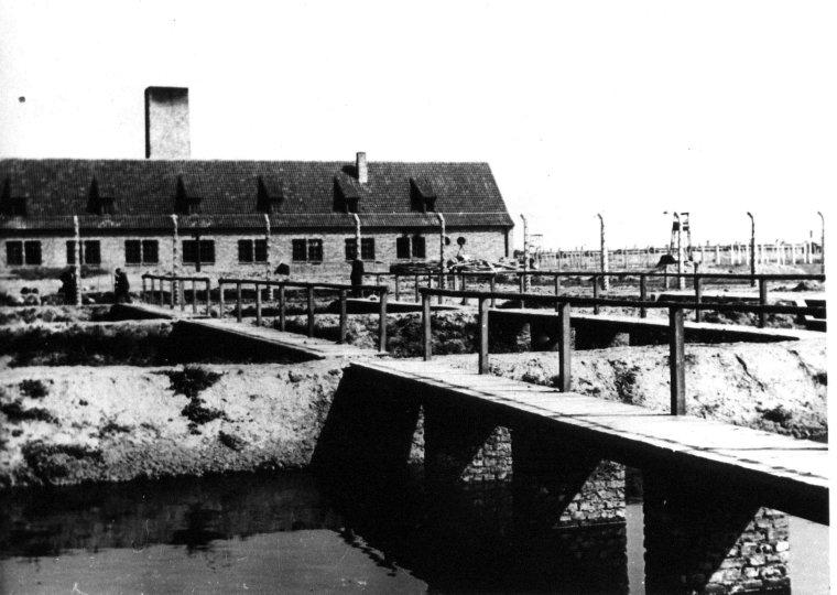 auschwitz-ii-birkenau-concentration-camp-gas-chamber-and-crematorium-ii-ss-photograph-1943