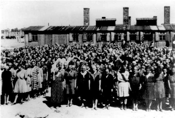 auschwitz-ii-birkenau-concentration-camp-roll-call-in-front-of-the-camp-kitchen-ss-photograph-1944