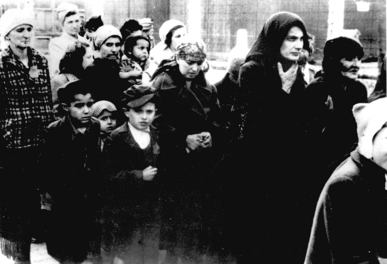 auschwitz-ii-birkenau-women-and-children-directed-to-the-gas-chamber-during-selection-ss-photograph-1944